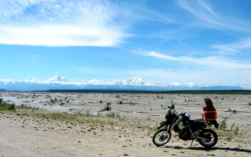 Big Delta panorama looking south at the Alaska Range.