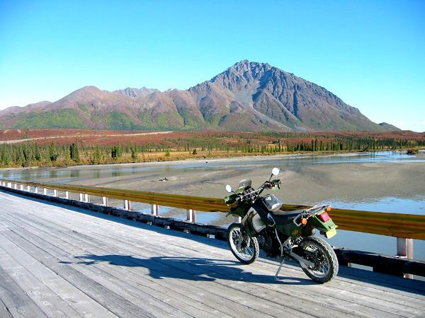 On the Susitna Bridge, Denali Highway.