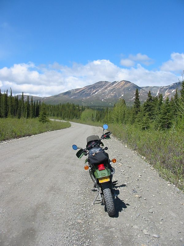 More shots of the KLR/Travel Gnome on the Denali