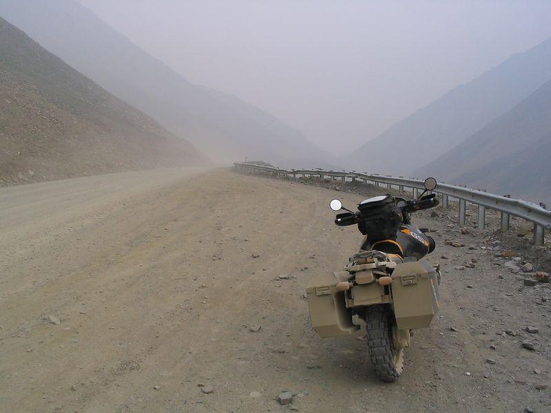 Antigun Pass looking North, smoke
