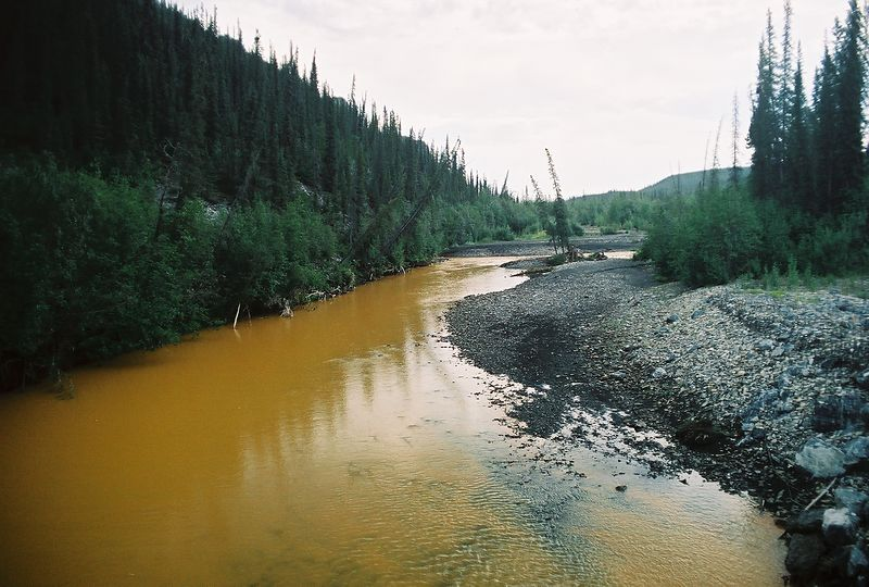 Rusty looking river