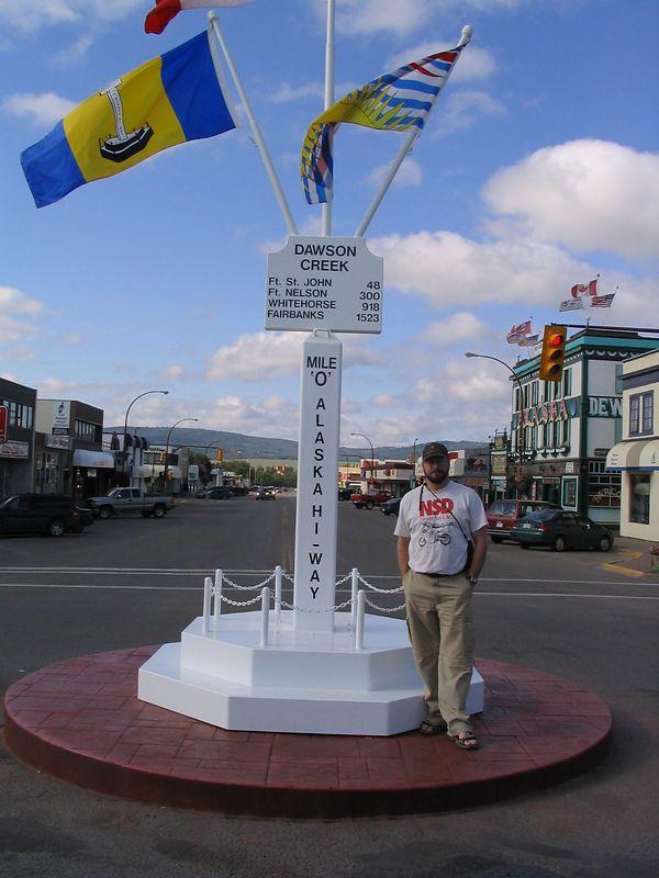Me, Mile 0, Dawson Creek