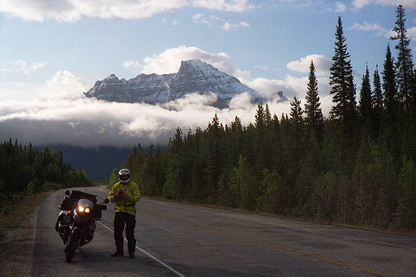 Me, morning mist, Banff