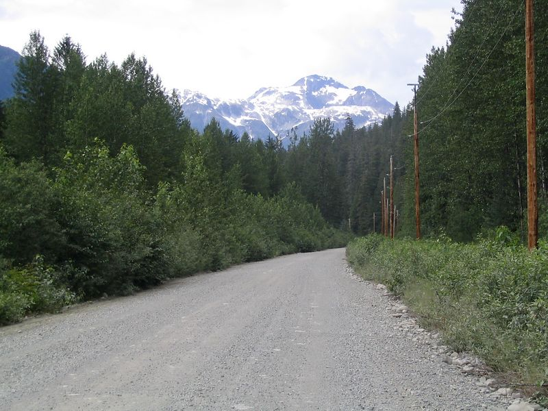 Road out of Hyder to Salmon Glacier