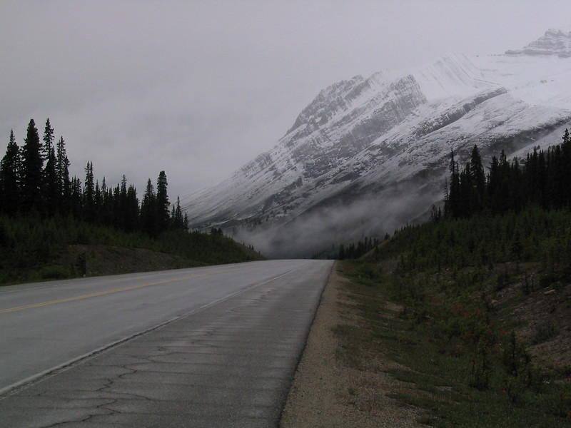 Banff National Park northbound starting to cloud up