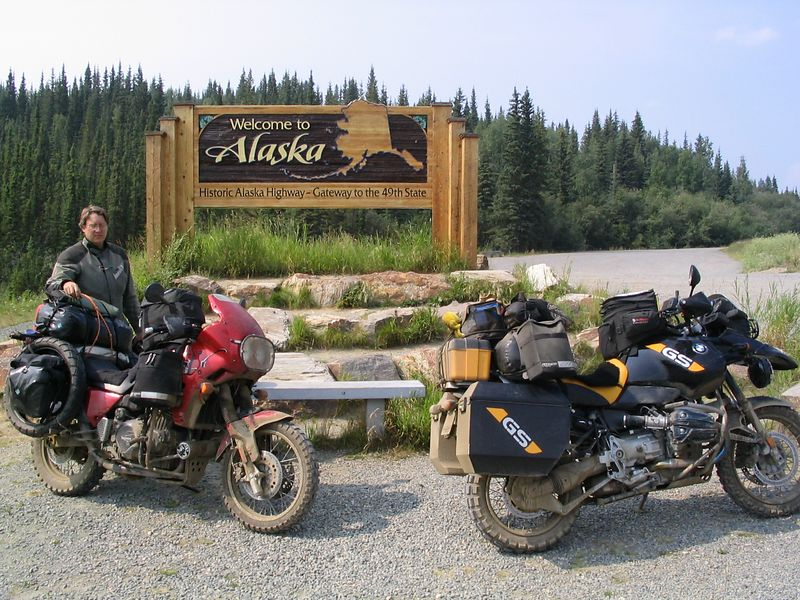 Alaska border crossing, near Beaver Creek, AK. Day 8