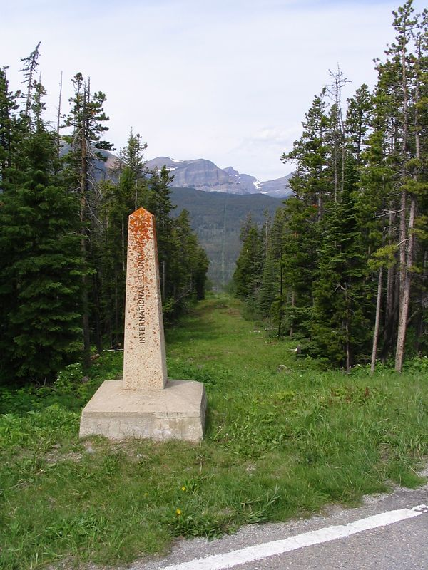 US Canada border, Chief Mtn, Alberta.