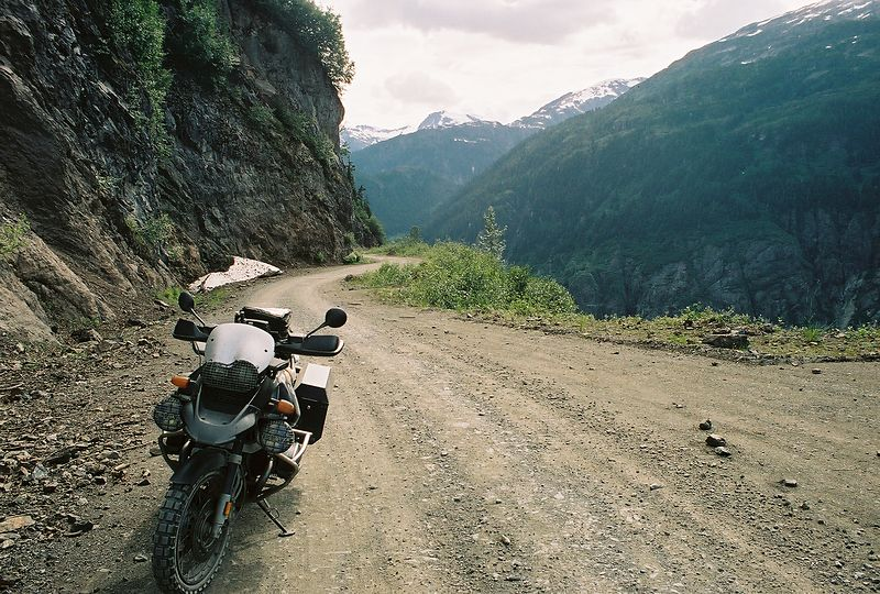 The road to Salmon Glacier