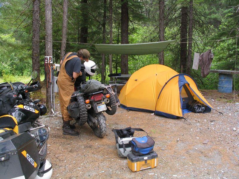 Campsite #4, Run-a-much campground, Hyder.