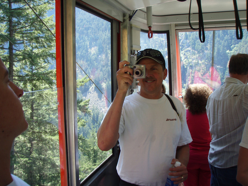 Brian On the Tram at Hell's Gate