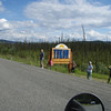 There was tourist bus stopped at the Yukon sign but i got the pic anywats we didnt even slow down.