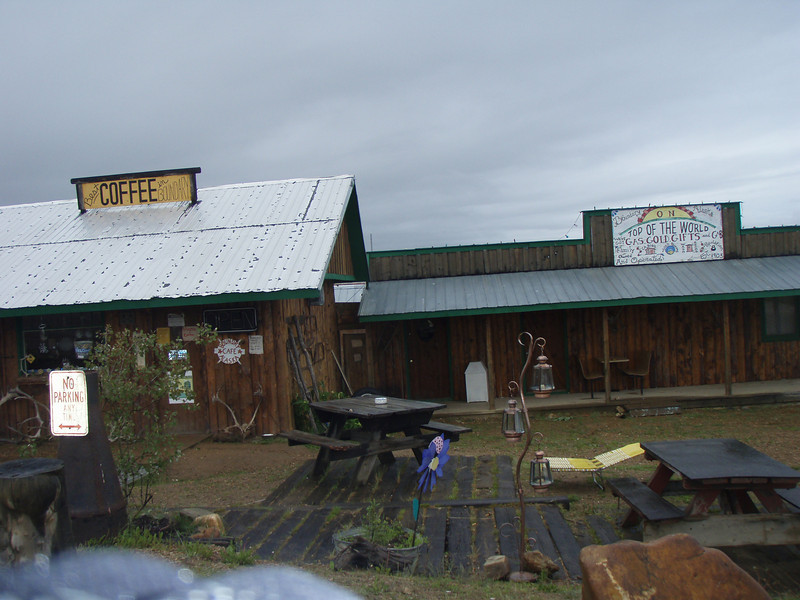 The sign says the best coffee in Boundry...I'll bet it was good... too bad i'm not a coffee drinker.