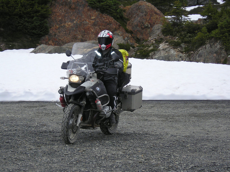 Ron took this one of me Arriving at Salmon Glacier