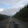 We stayed an extra day in Dawson City hoping the rain weather would clear a little but as soon as we got on the road it started raining and the fog rolled in.
