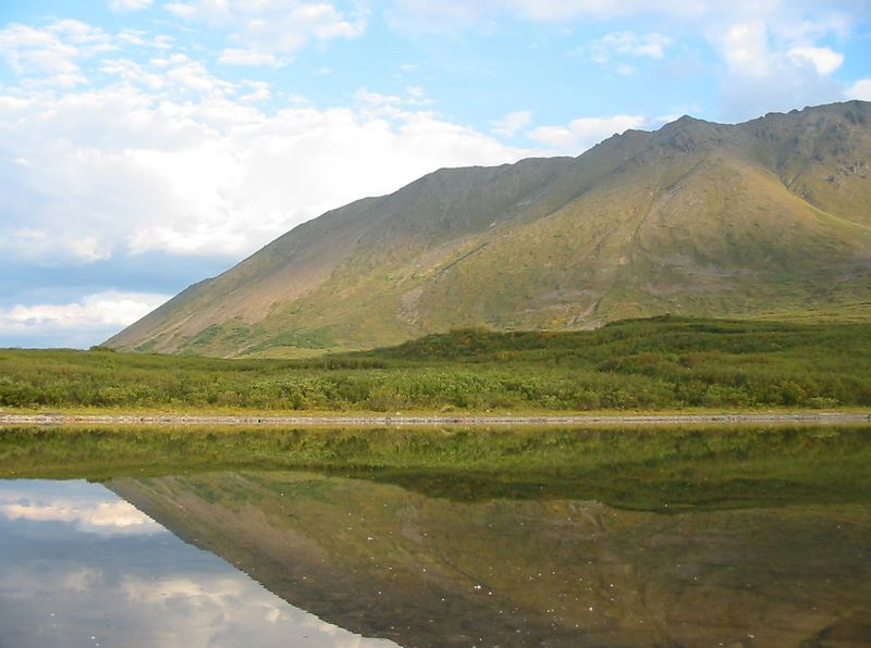 reflection lake along the eastern half of the Denali Highway.