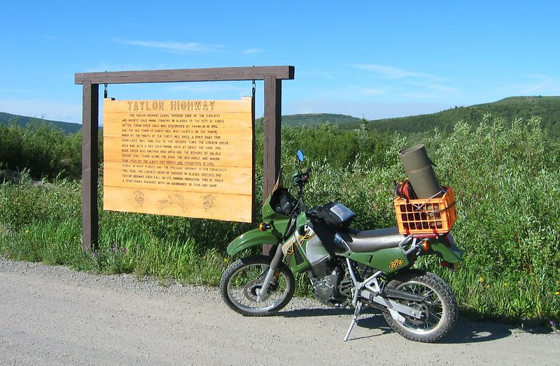 "The Taylor ""Highway"" is a maintained gravel road from just south of Tok, through Chicken, and over to Dawson City, YK"