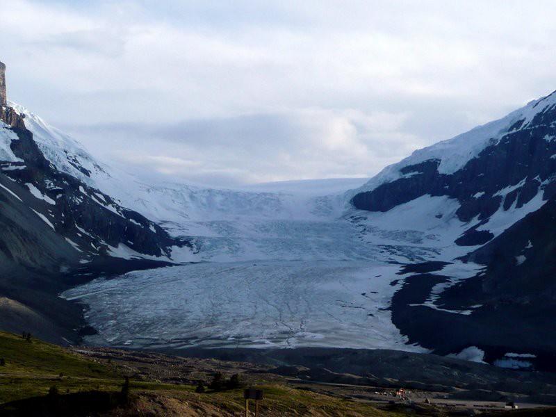Atabaska Glacier, Jasper NP, about 7:30 pm