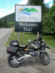 From Seattle I headed east through Spokane and crossed the border from Idaho into BC at Kingsgate.