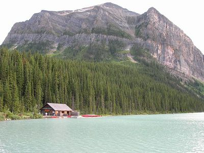 Lake Louise, a few miles from Banff.