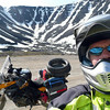 At the summit of Atigun Pass