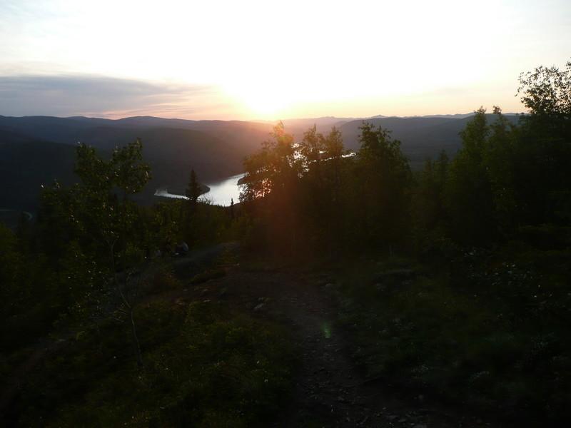 12:30 am 6/22/09 midnight sun, on Midnight Dome, Dawson Yukon