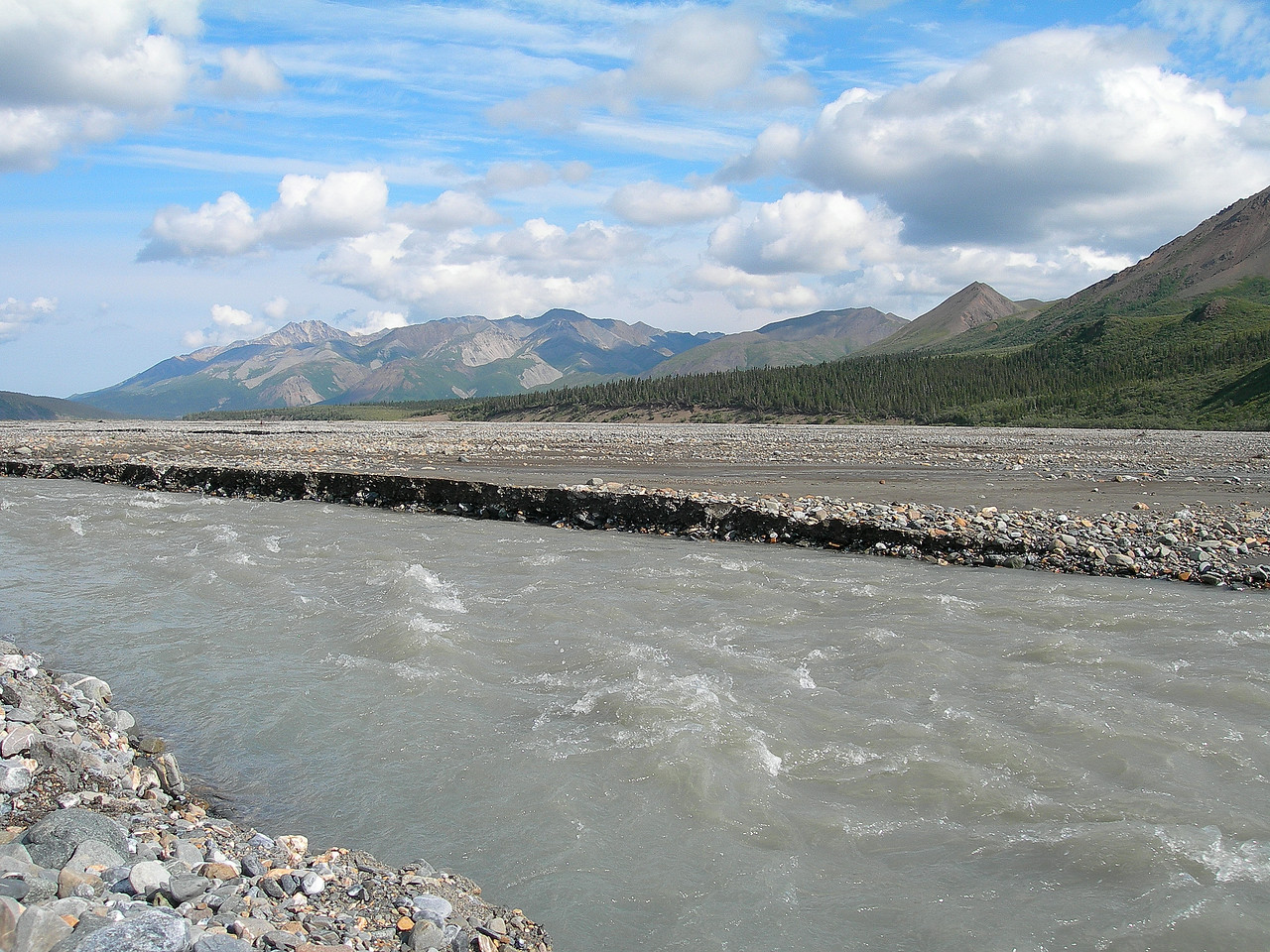 The main fork of the Toklat River.