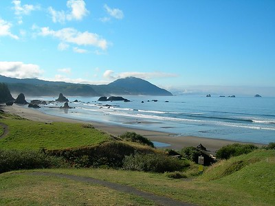 Heading north - the Oregon coast near Gold Beach