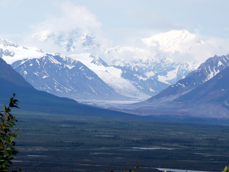 I think this is looking west on the Denali Hwy into Denali Park