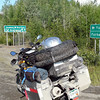 The beginning of the Dalton Highway, about 90 miles north of Fairbanks