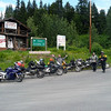 Junction of Cassier Hwy and road to Hyder. I knew one of the guys in this group; he is from Estes Park.