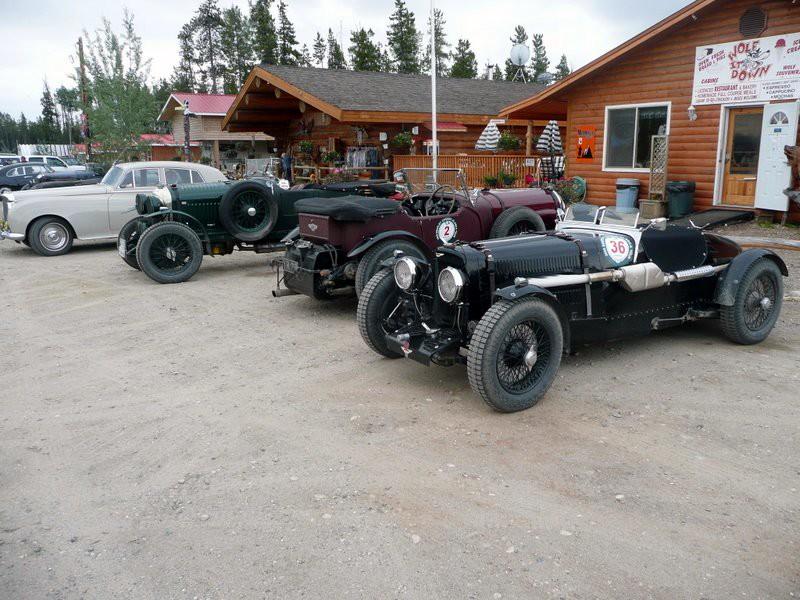 Part of the Bentley Canada-Alaska Tour. Fantastic cars!