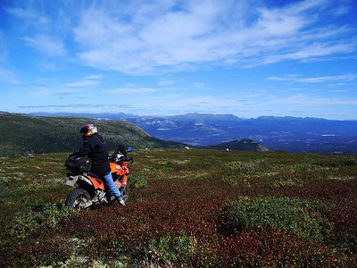 Trail riding on top of the Yukon.