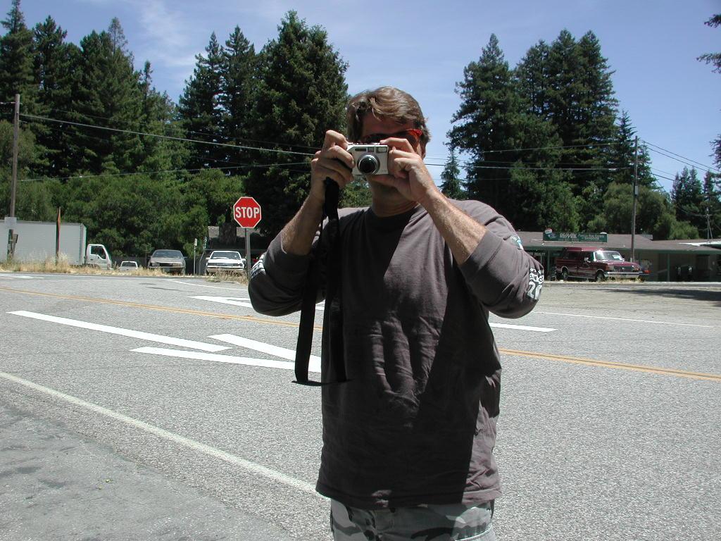 Biff-boy taking a photo of fish taking a photo of biff, etc, etc.