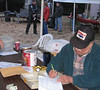 Dick Larsen (Van Port)hard at work ( rare photo!)