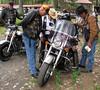 CMAer's  Joel Abercrombie, Tom Mott, Marv Astin, and chuck Goodman blessing the bikes.