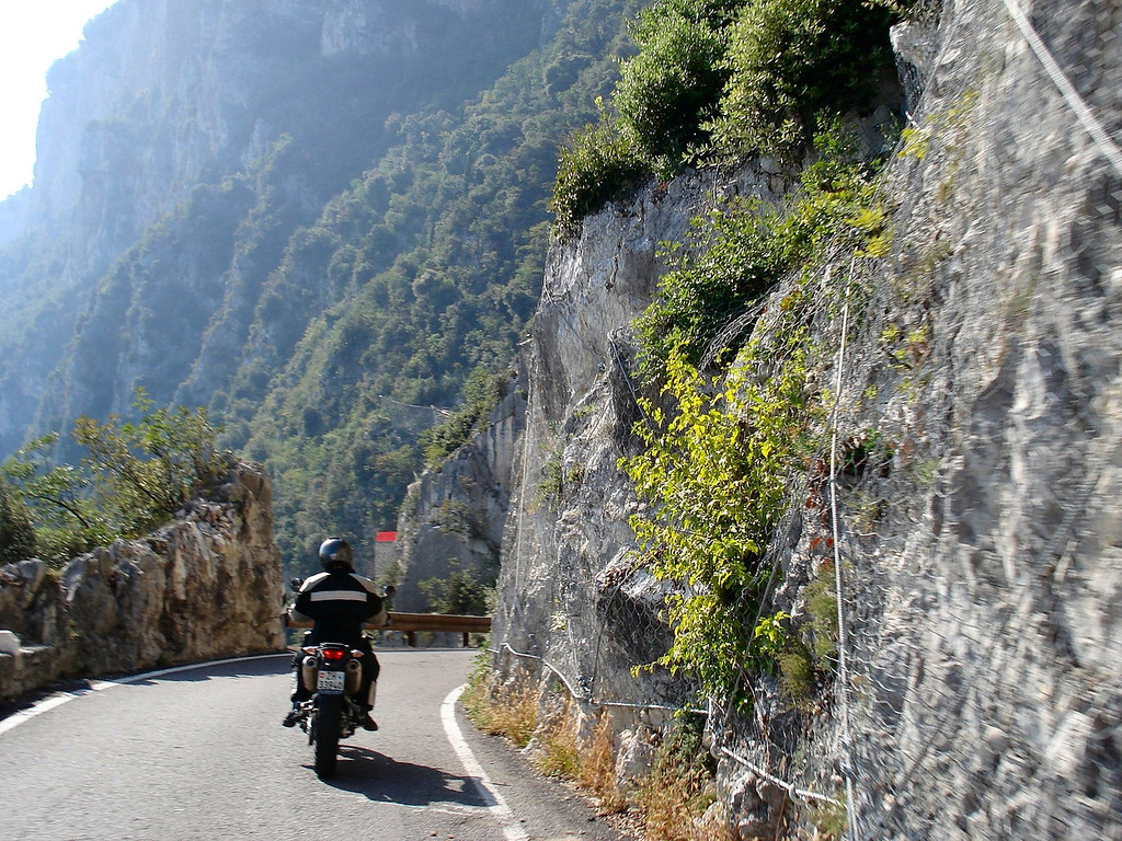 Here the road to Pieve gets a little tighter - it's OK to beep your horn before rounding the corner - Italy