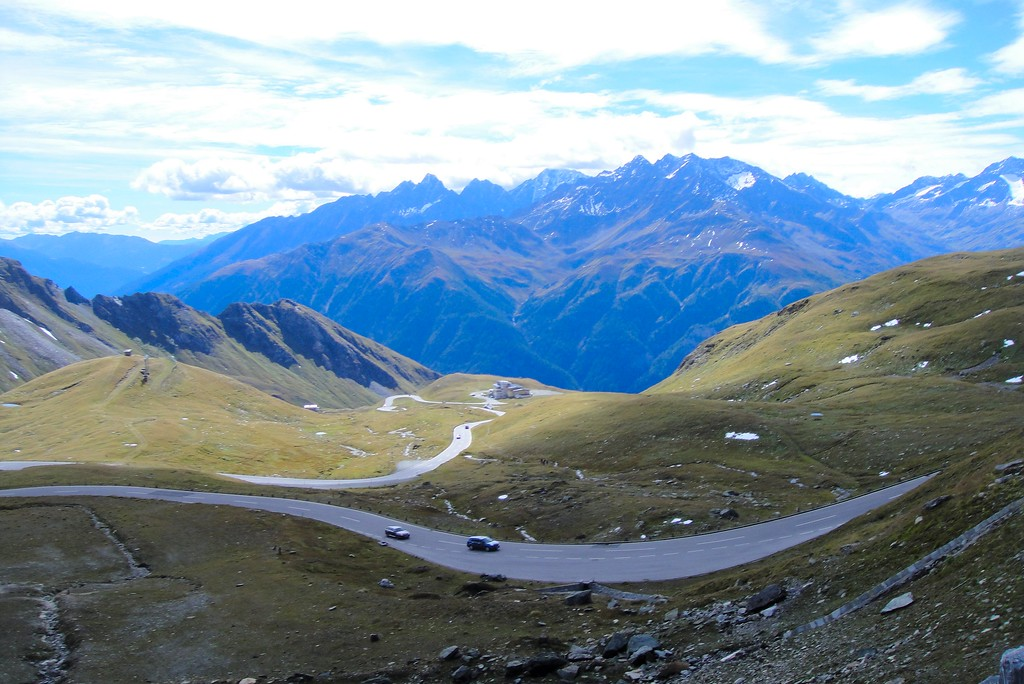 The northern view from atop the Jaufen Pass - Italy
