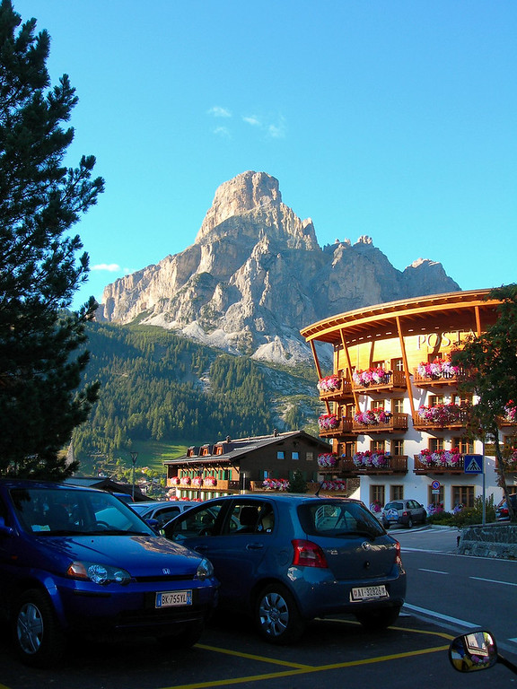 View from our hotel in Corvara im Badia, Italy