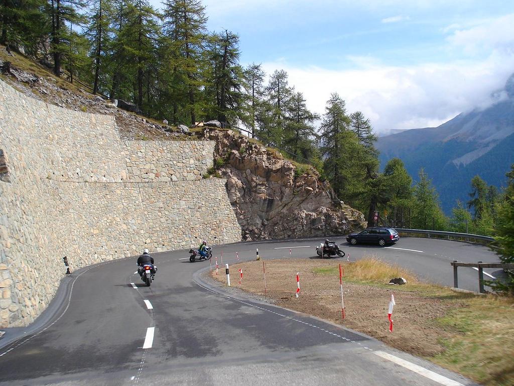 The swithcbacks just keep coming on the Stelvio Pass