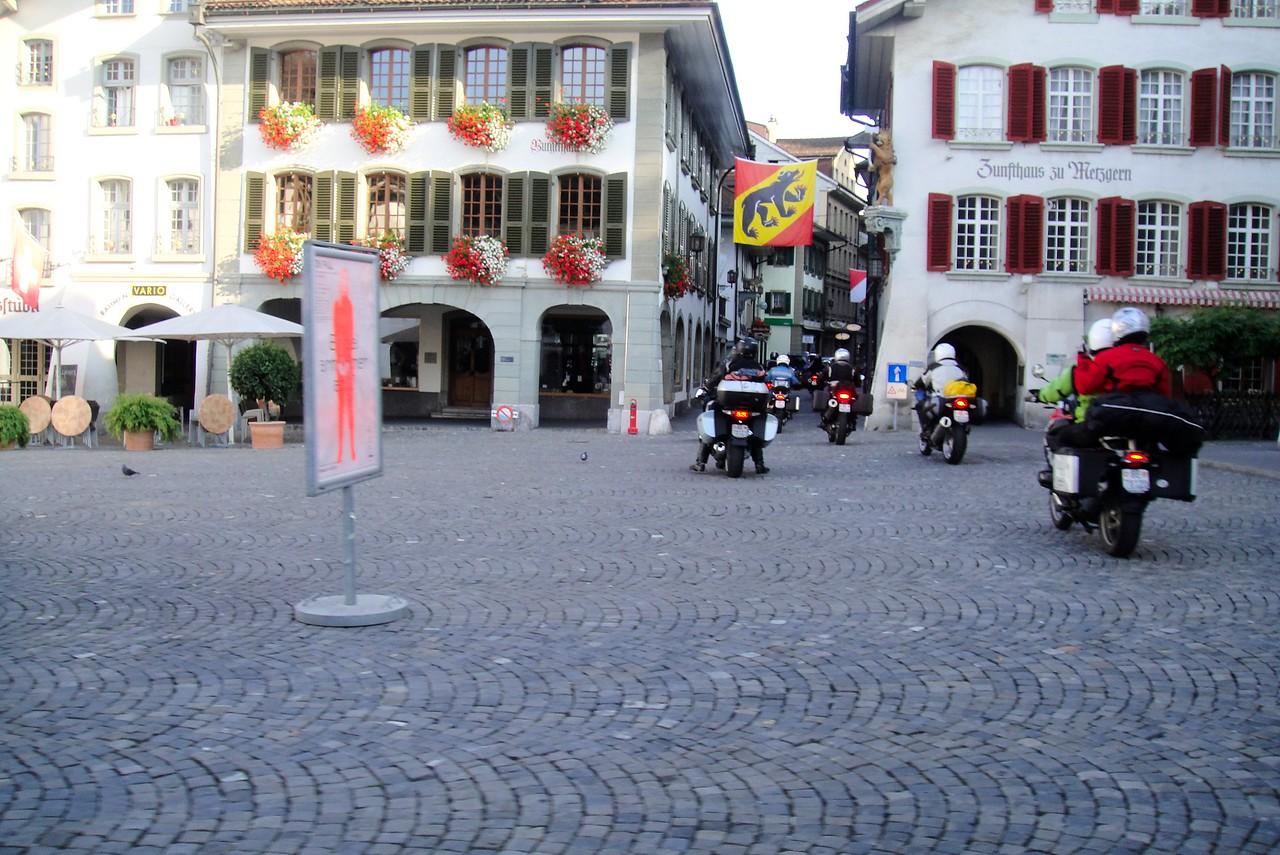 Heading out on tour from our hotel in Thun Switzerland