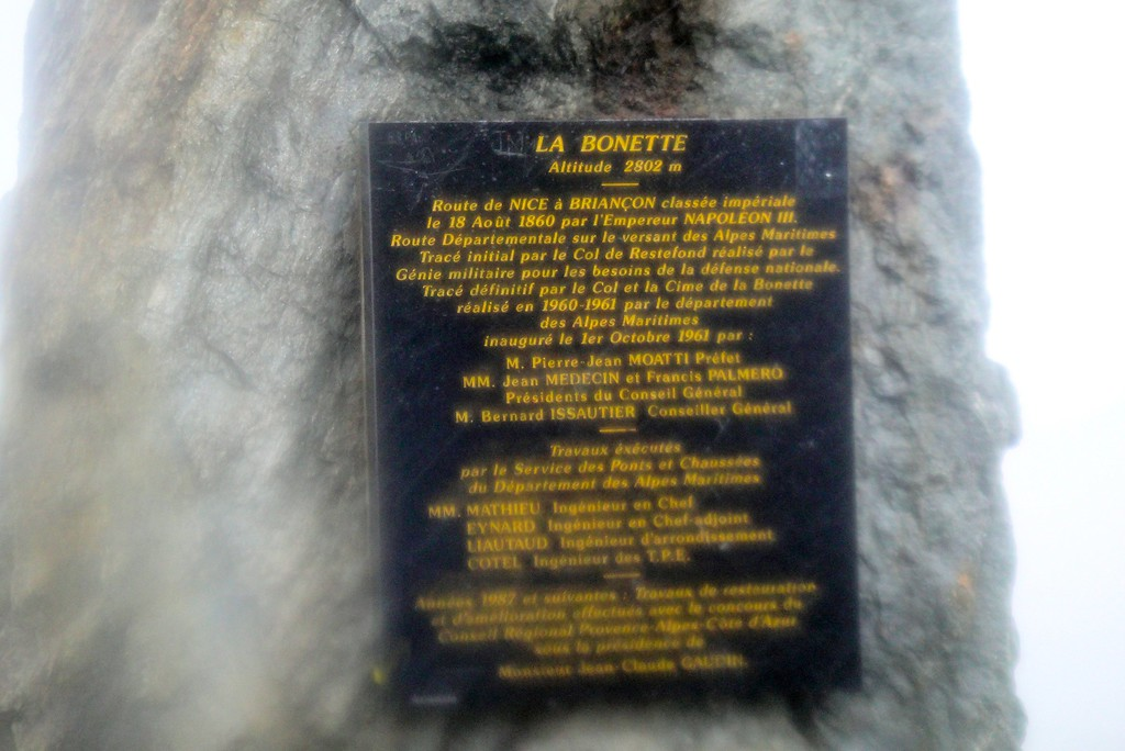 On this day we saw the #1 highest pass sign if nothing else - Cimi de la Bonette France
