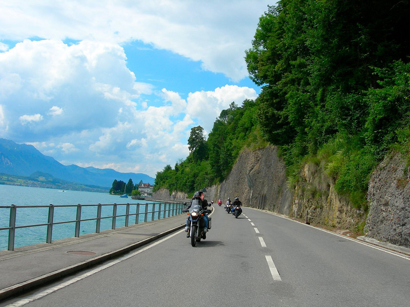 Part of our first day ride - Thuner See Switzerland