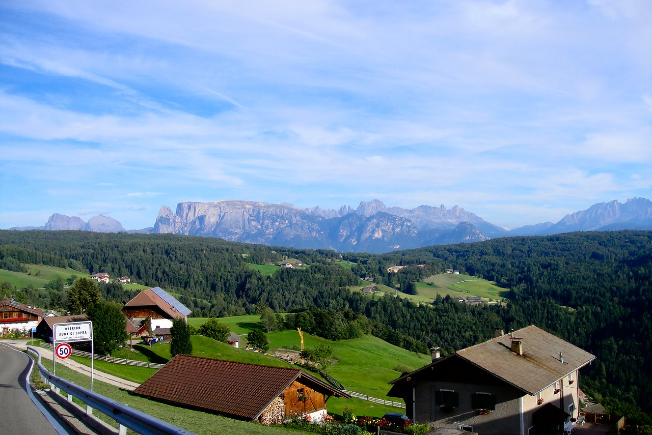 Another early view of the Dolomites from Oberinn Auna di Sopra - Italy