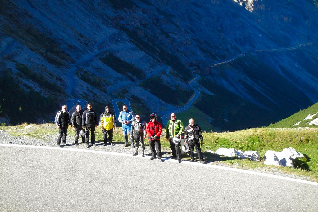 """A Stelvio photo op at the same place used by many motorcycle magazines including """"Cycleword"""" - Italy"""