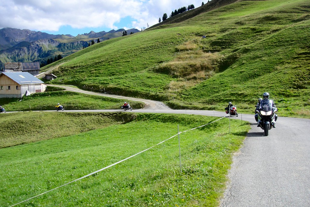Coming up the south side of the Col du Pre France