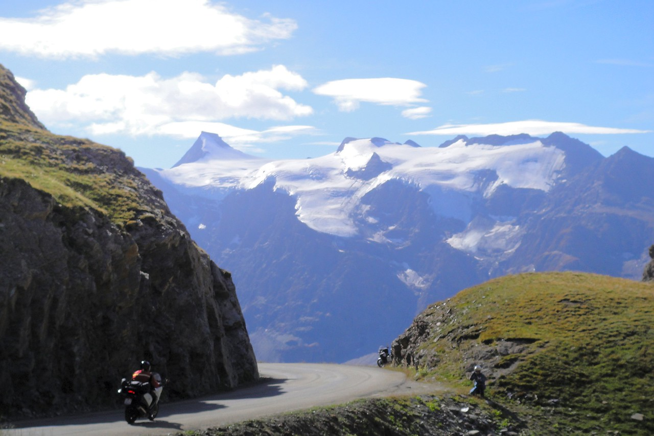 Heading down the from the top on the south side of Col de l'seran - France