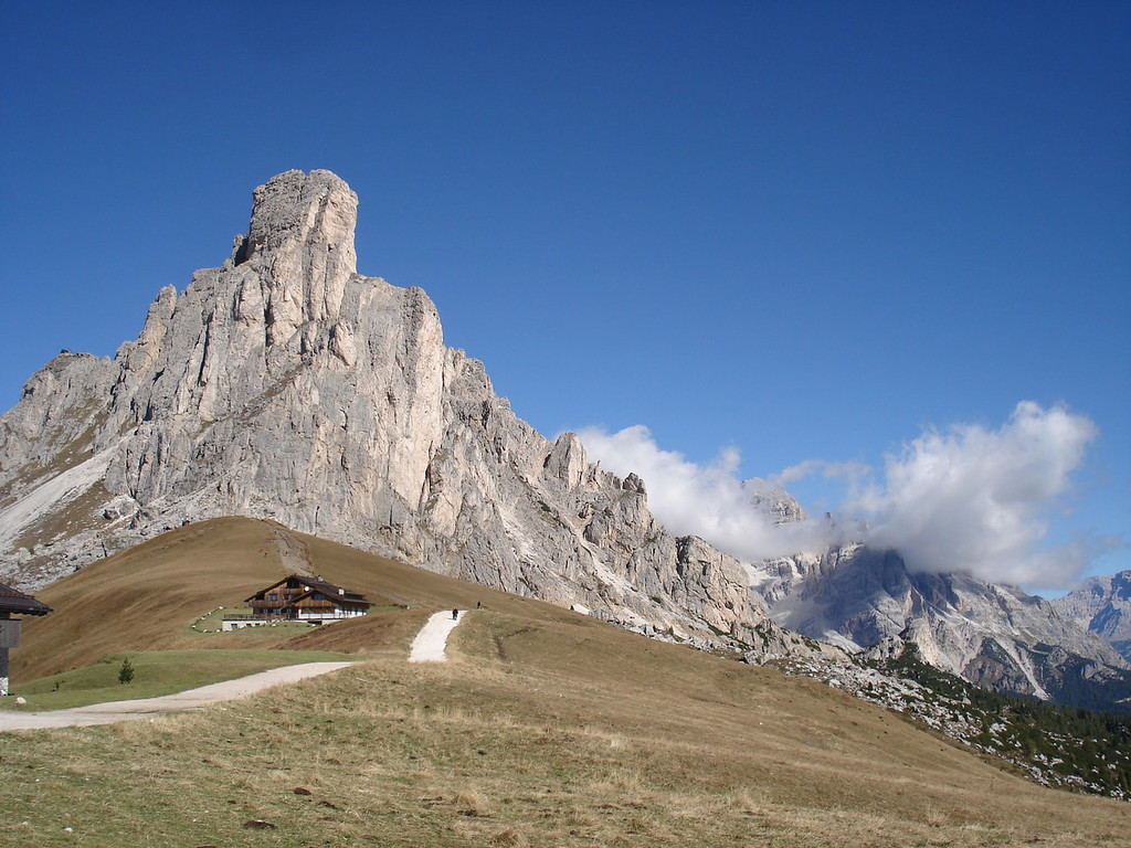 The top of Passo di Giau - Dolomites of Italy