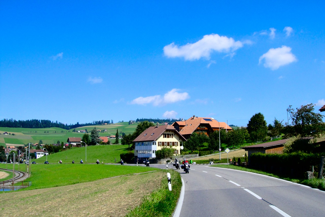 Another view near Biglen Switzerland, first day loop from Thun