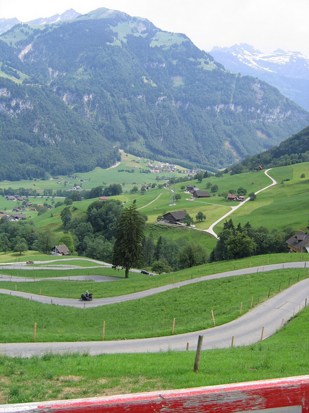 I love the country back roads in Switzerland - Acherlipass