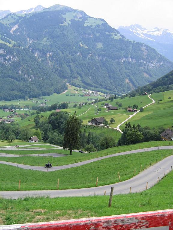 I love the country back roads in Switzerland - Acherlipass